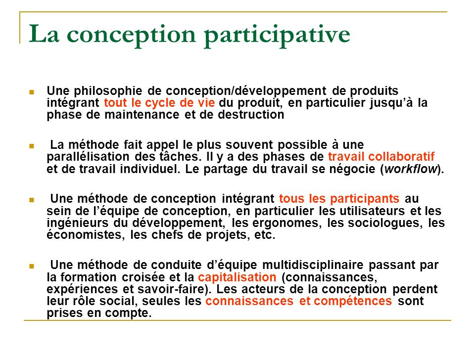 La conception participative