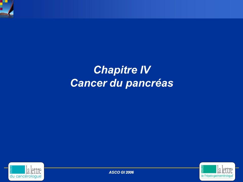 Chapitre IV Cancer du pancréas