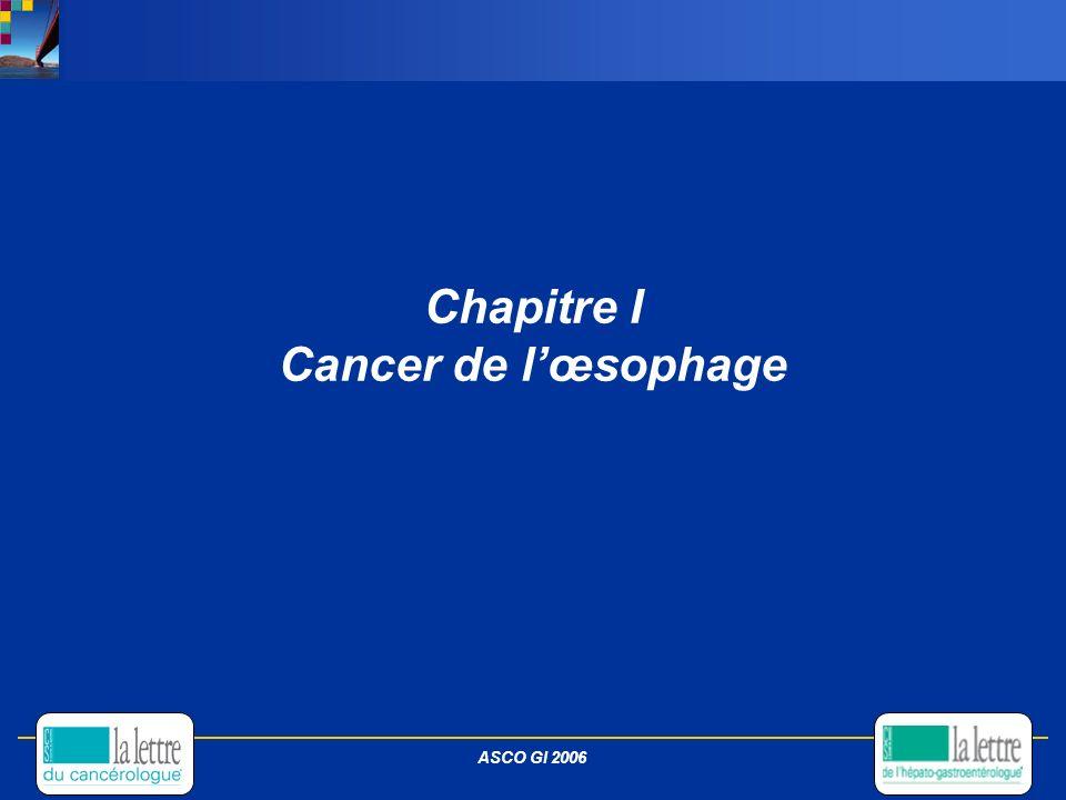 Chapitre I Cancer de l'œsophage