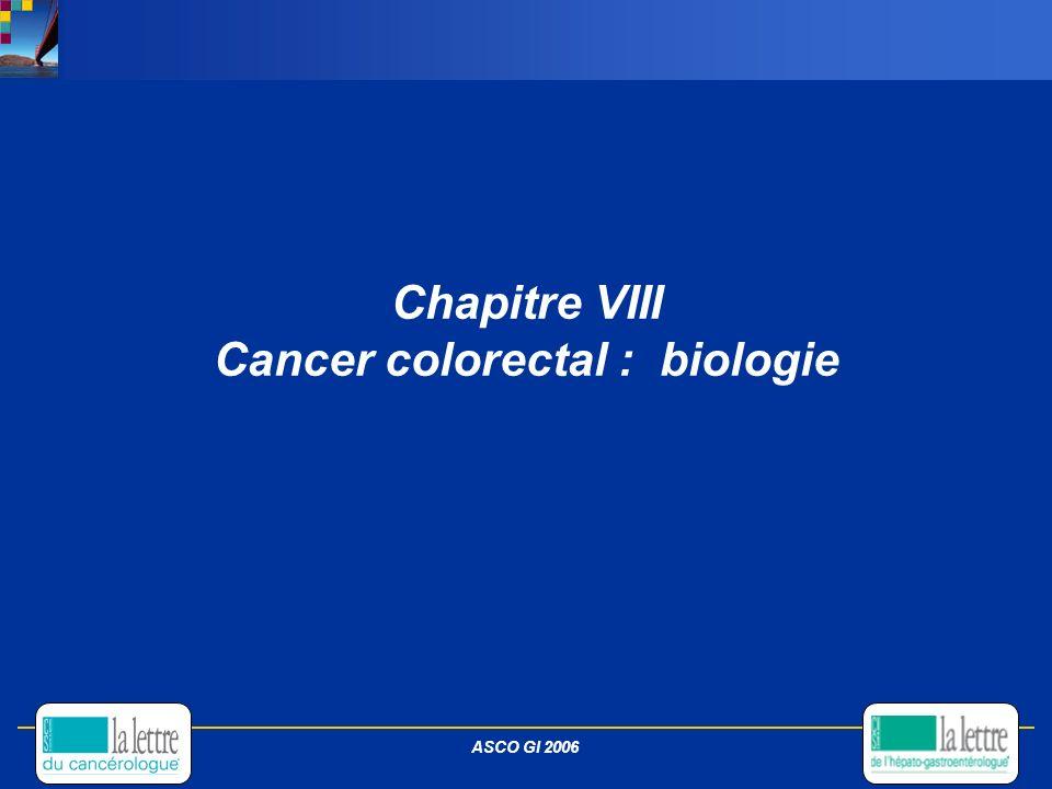 Chapitre VIII Cancer colorectal : biologie