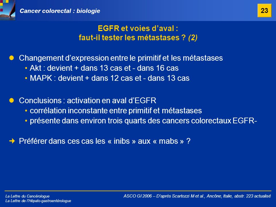 Cancer colorectal : biologie