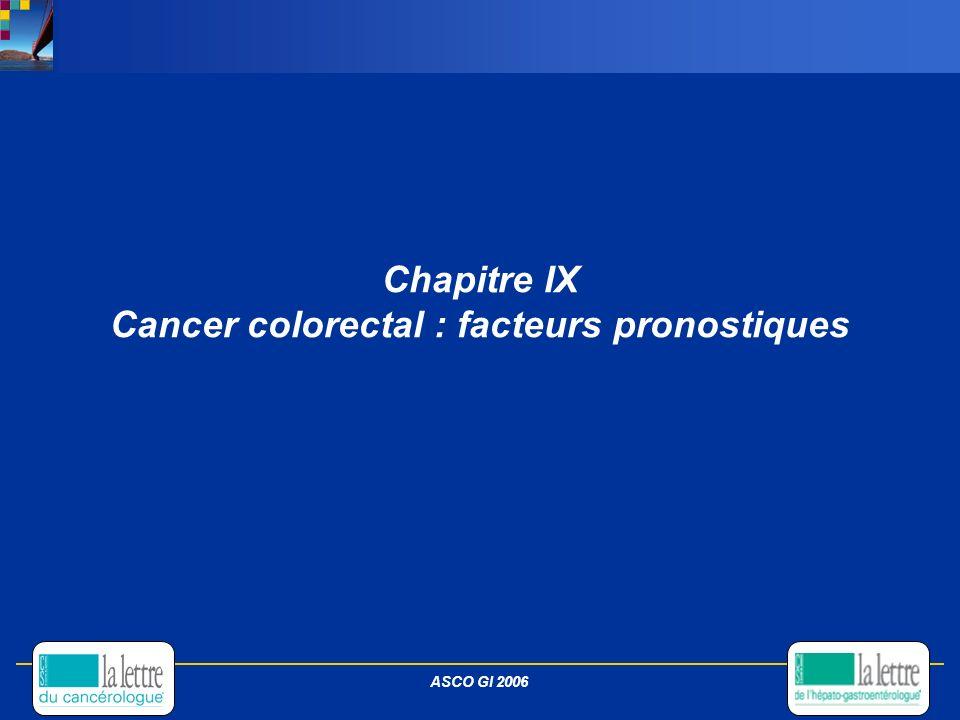 Chapitre IX Cancer colorectal : facteurs pronostiques