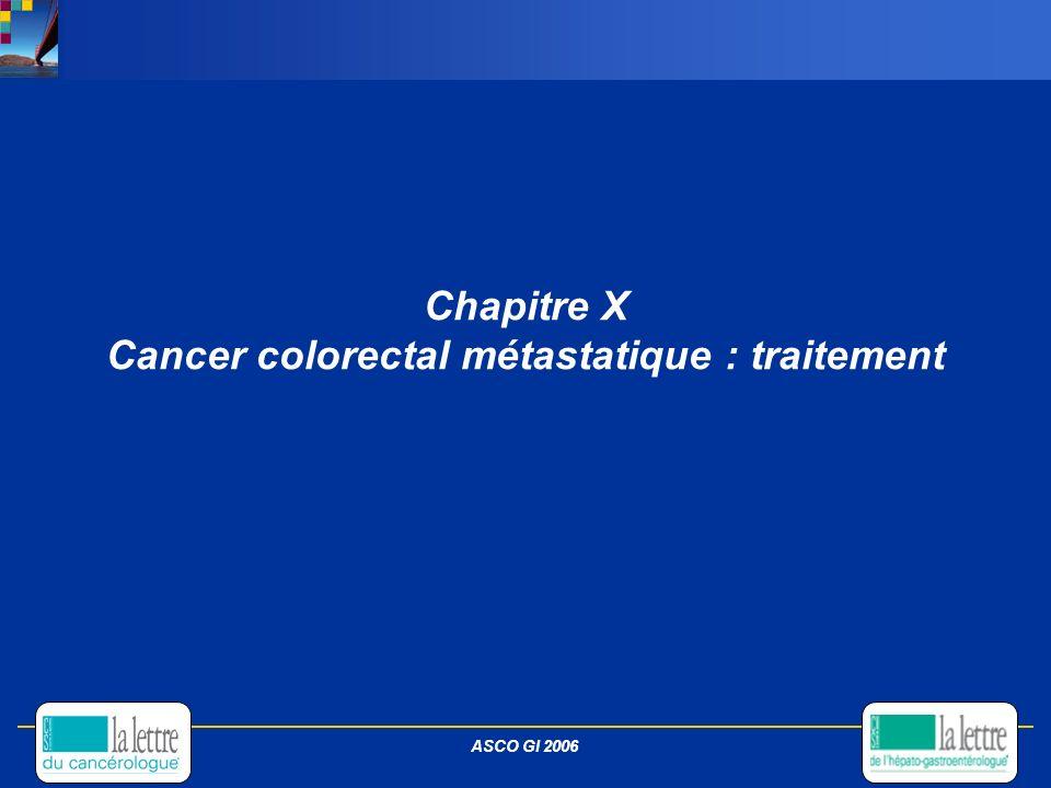 Chapitre X Cancer colorectal métastatique : traitement