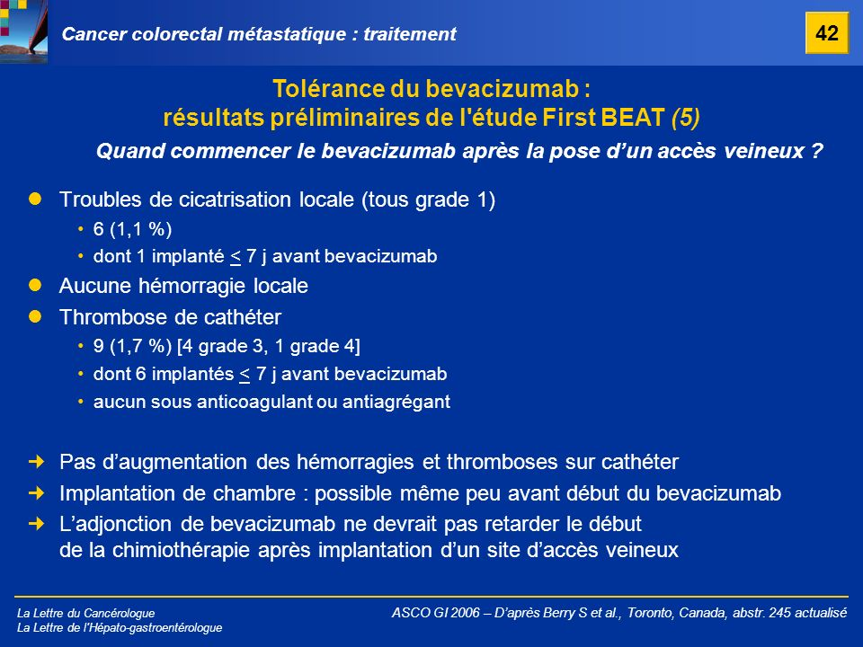 Cancer colorectal métastatique : traitement