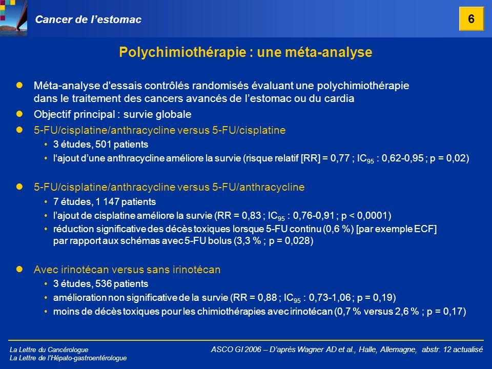 Polychimiothérapie : une méta-analyse