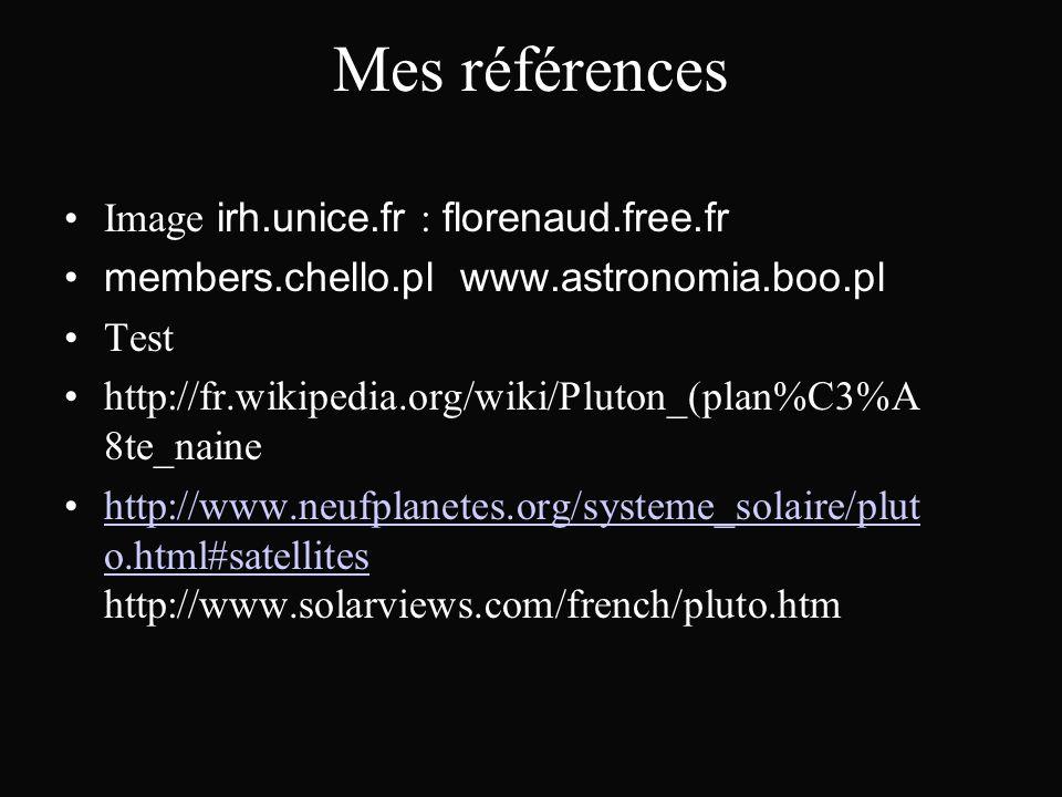 Mes références Image irh.unice.fr : florenaud.free.fr