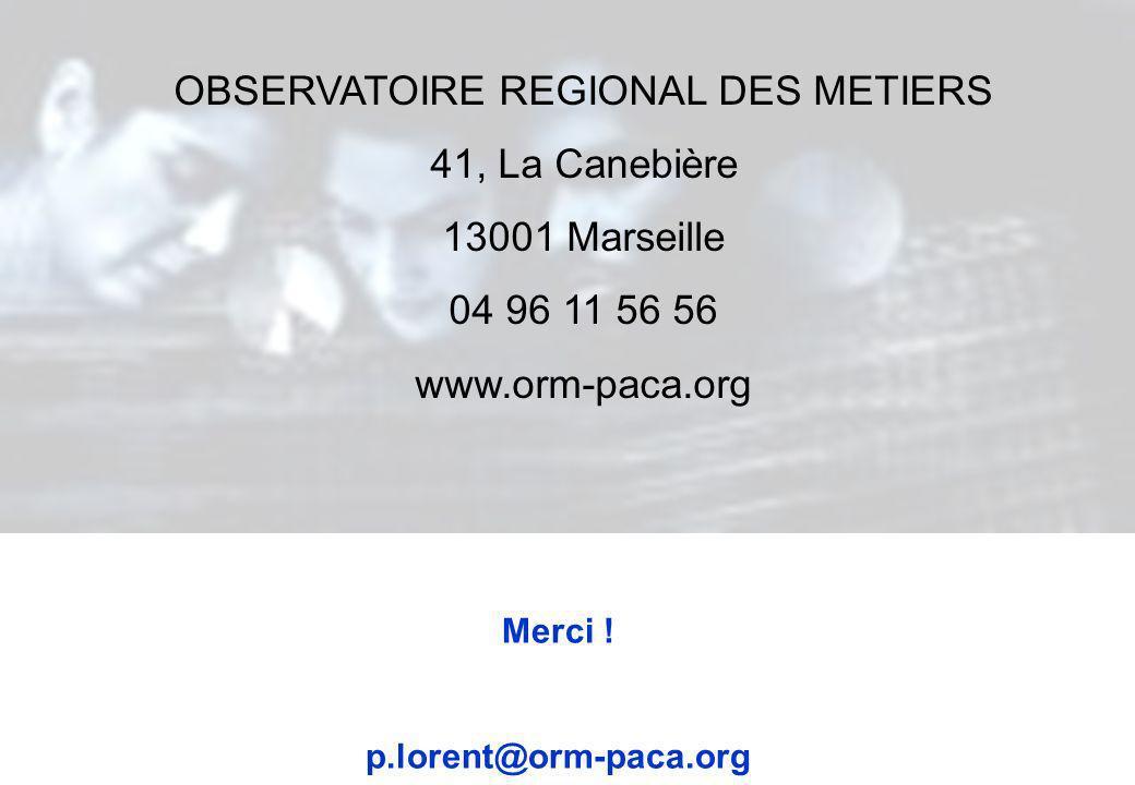 OBSERVATOIRE REGIONAL DES METIERS