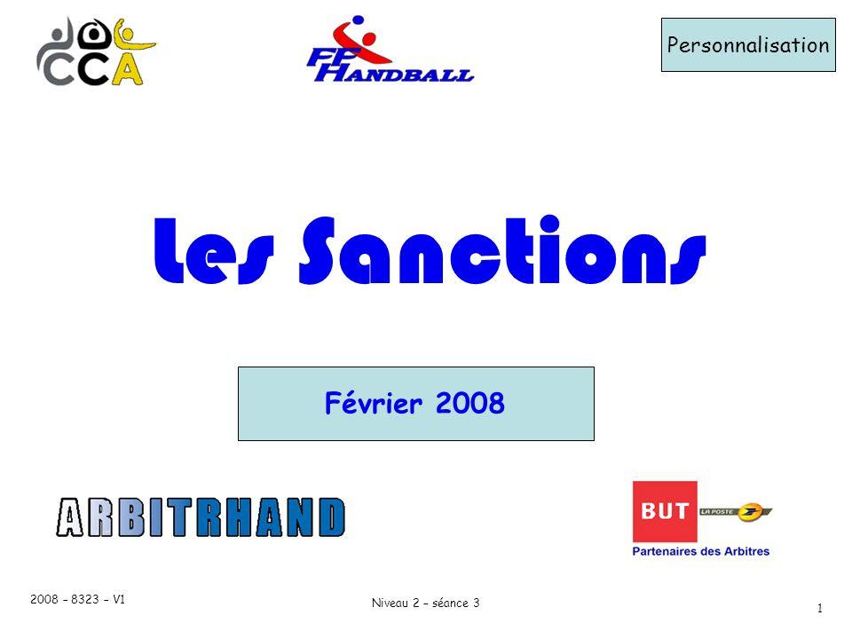 Les Sanctions Février 2008 Personnalisation 2008 – 8323 – V1