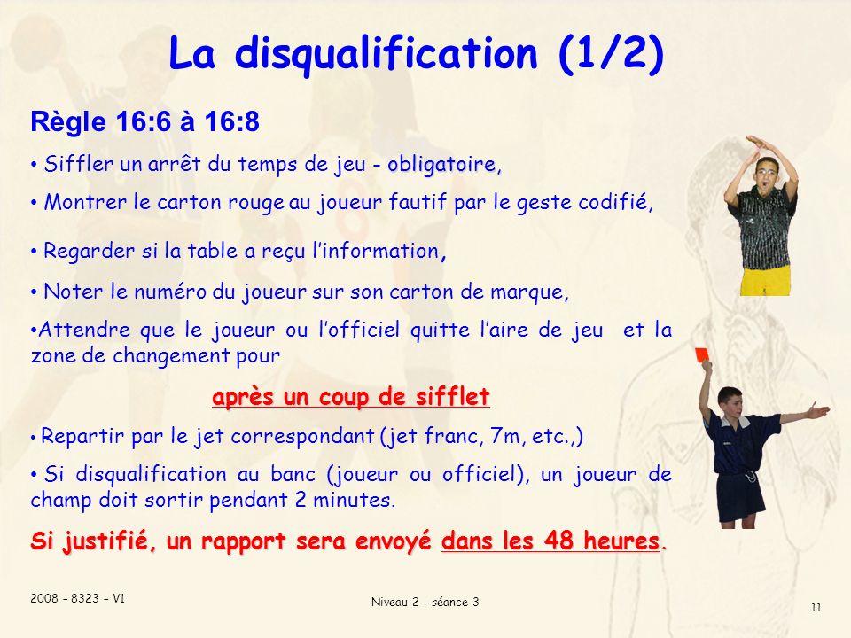 La disqualification (1/2)