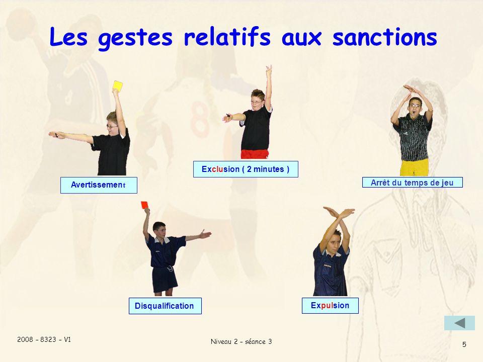 Les gestes relatifs aux sanctions