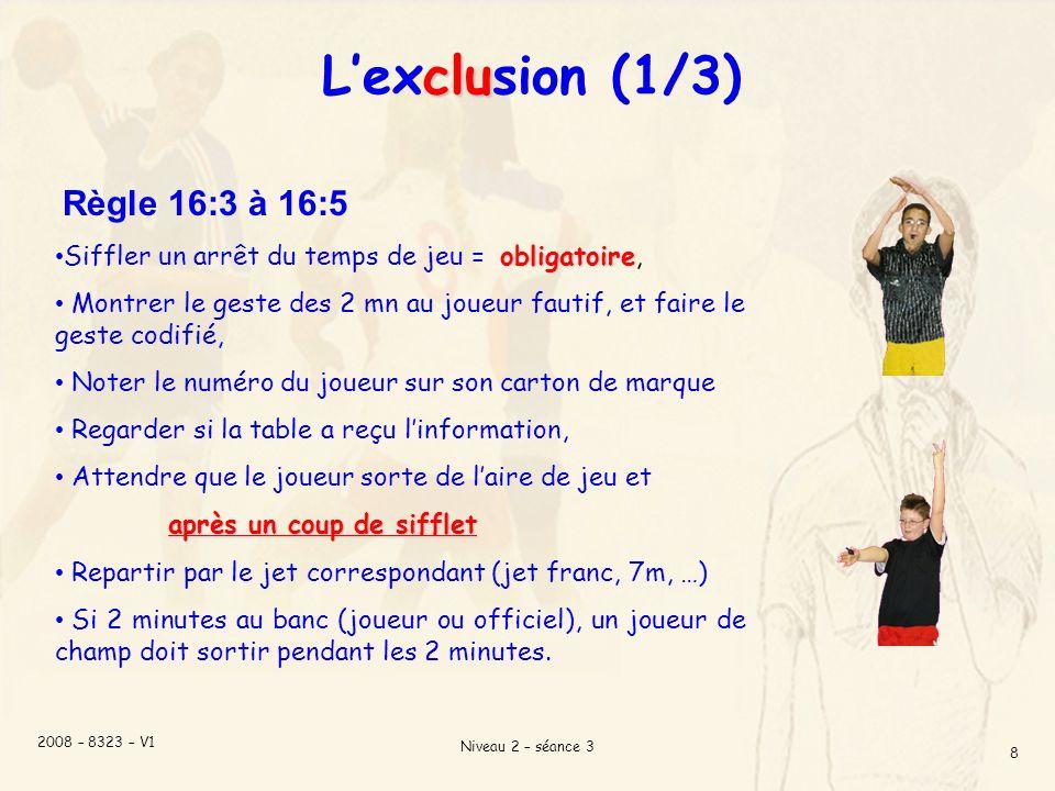 L'exclusion (1/3) Règle 16:3 à 16:5