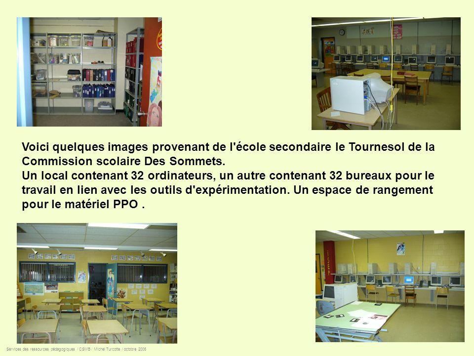 Voici quelques images provenant de l école secondaire le Tournesol de la Commission scolaire Des Sommets.