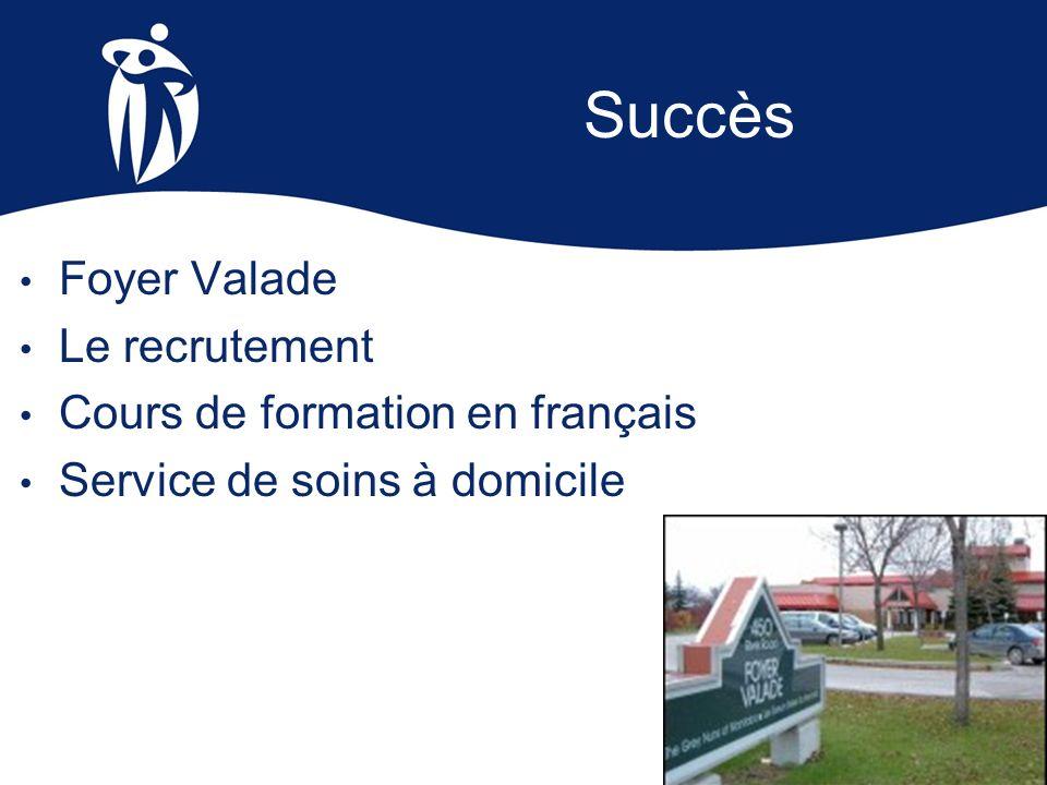 Succès Foyer Valade Le recrutement Cours de formation en français