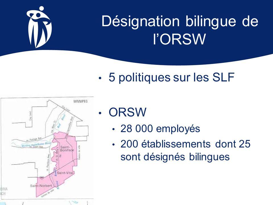 Désignation bilingue de l'ORSW