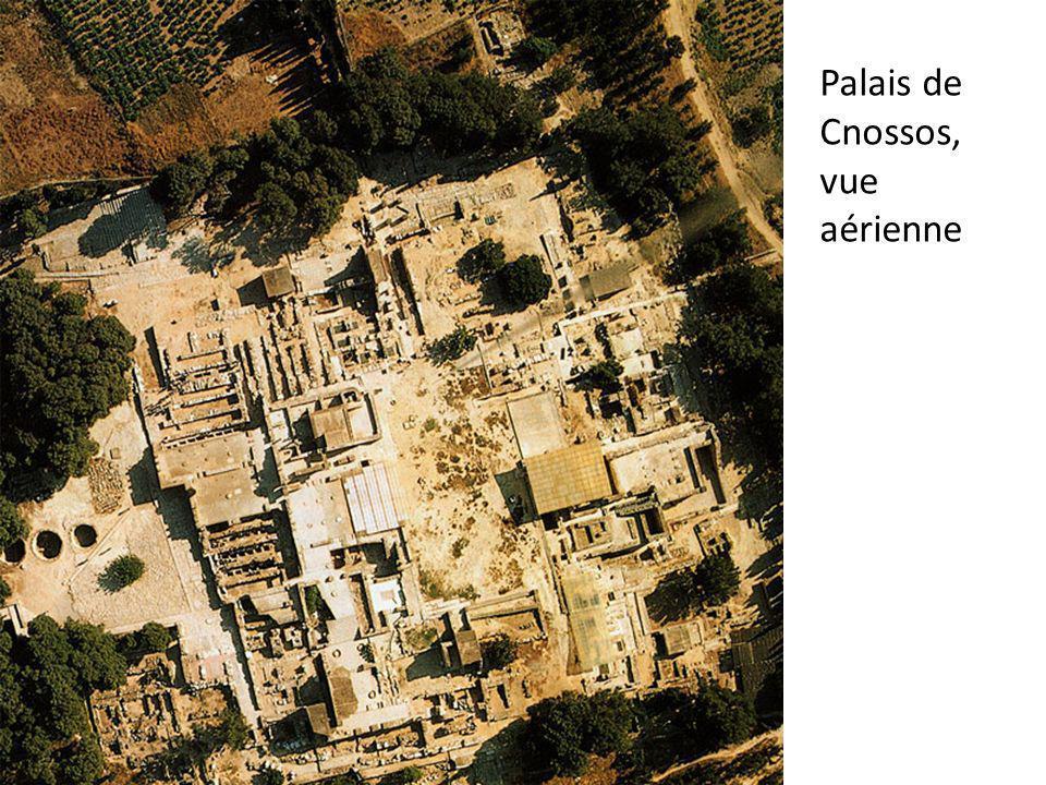 Palais de Cnossos, vue aérienne