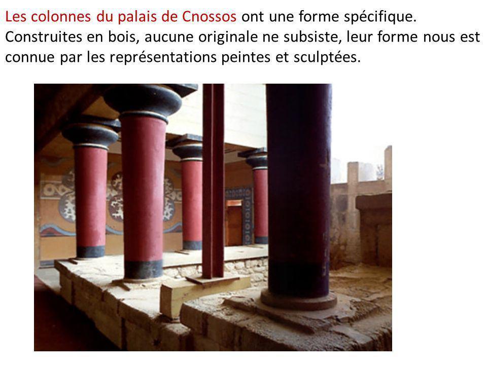 Les colonnes du palais de Cnossos ont une forme spécifique