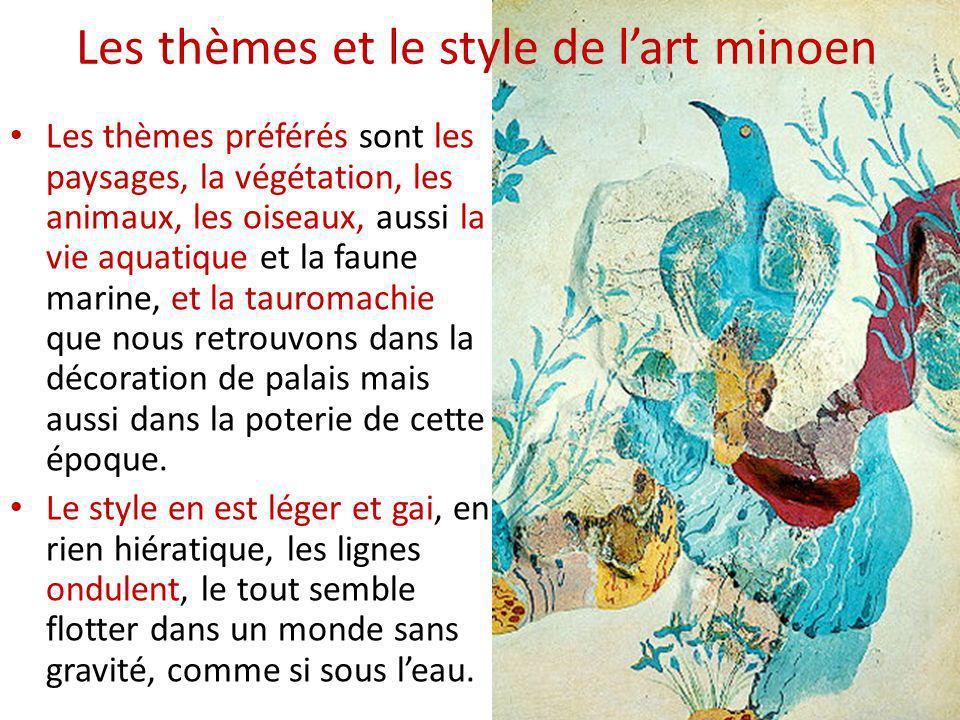 Les thèmes et le style de l'art minoen