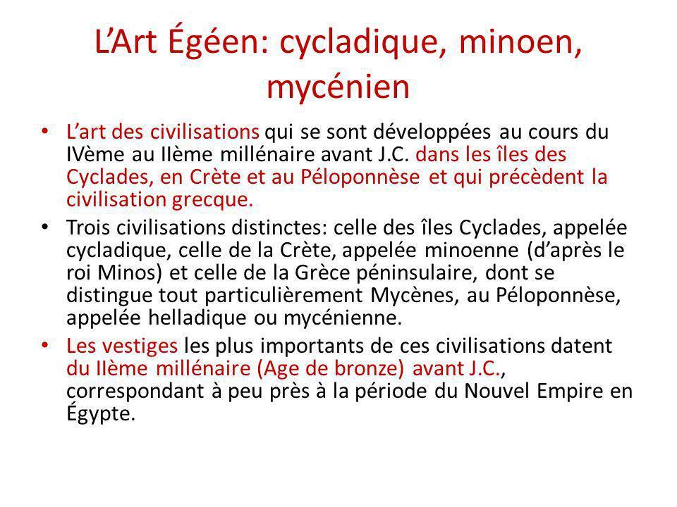 L'Art Égéen: cycladique, minoen, mycénien