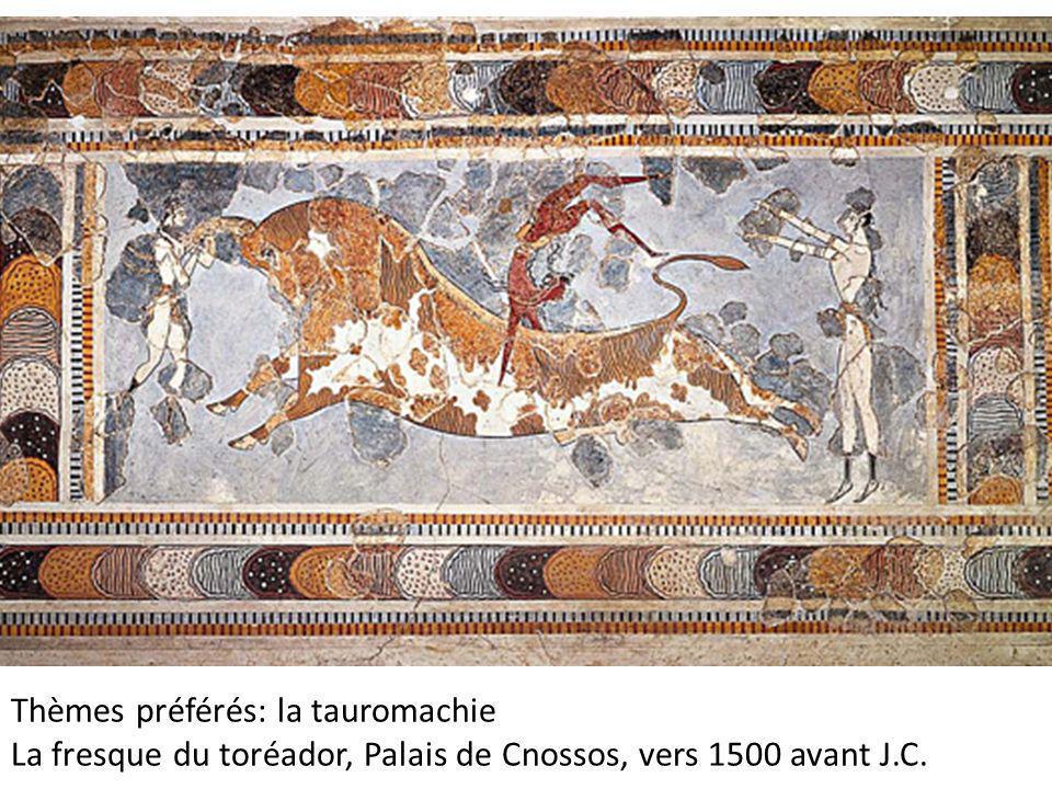 Palais de Cnossos, Hauteur 62 cm avec bordure, Musée d'Héraklion, Crète,