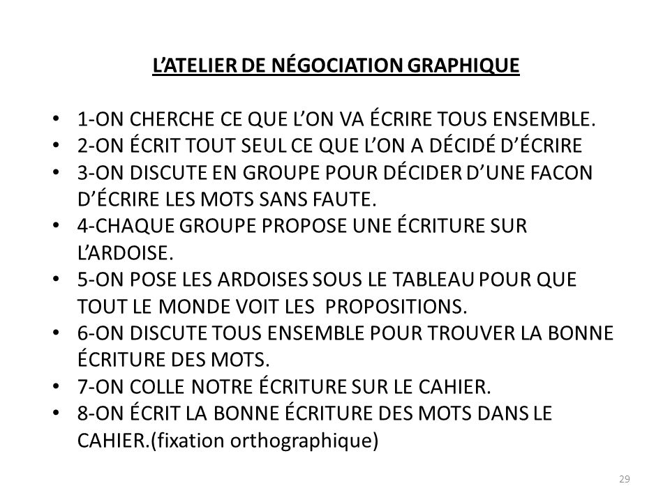 L'ATELIER DE NÉGOCIATION GRAPHIQUE