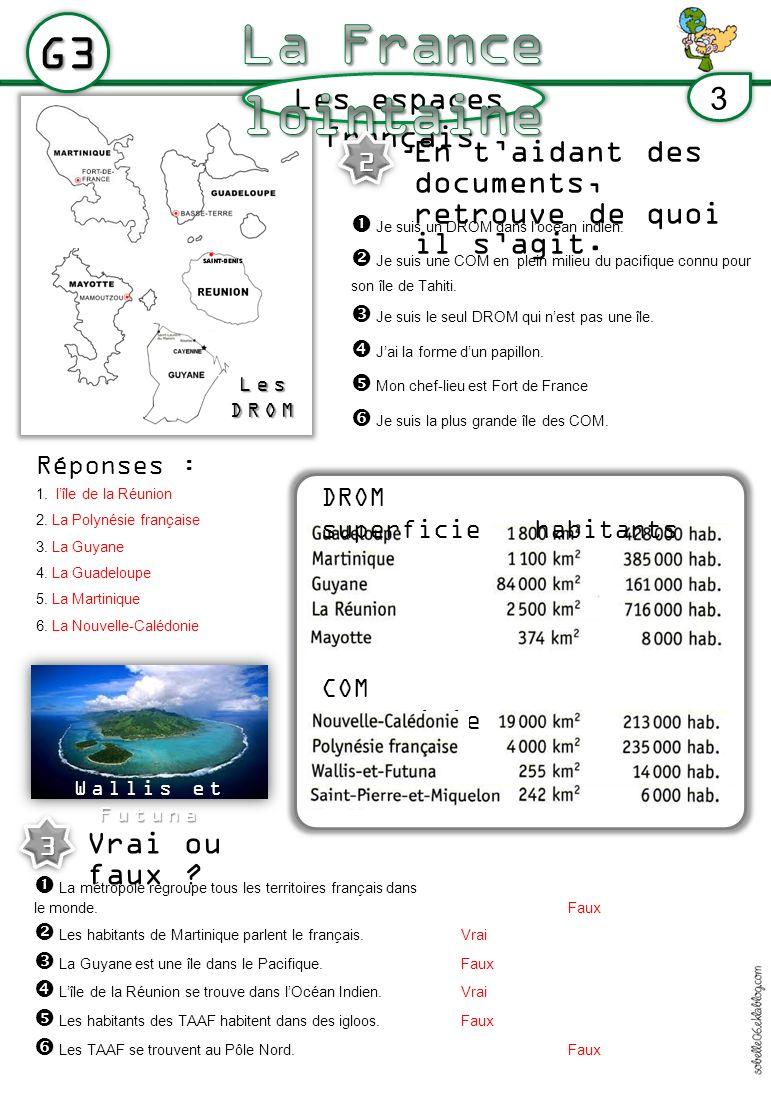 La France lointaine G3 Les espaces français 3
