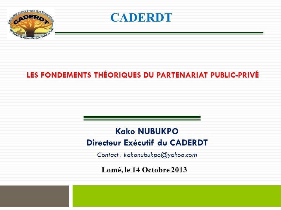 Les fondements théoriques du partenariat public-privé