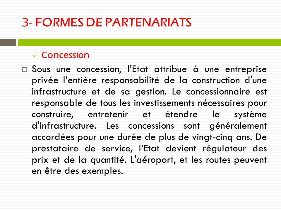 3- FORMES DE PARTENARIATS
