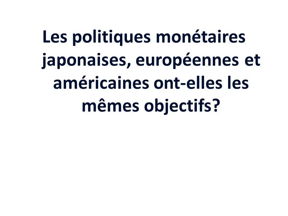 Les politiques monétaires japonaises, européennes et américaines ont-elles les mêmes objectifs