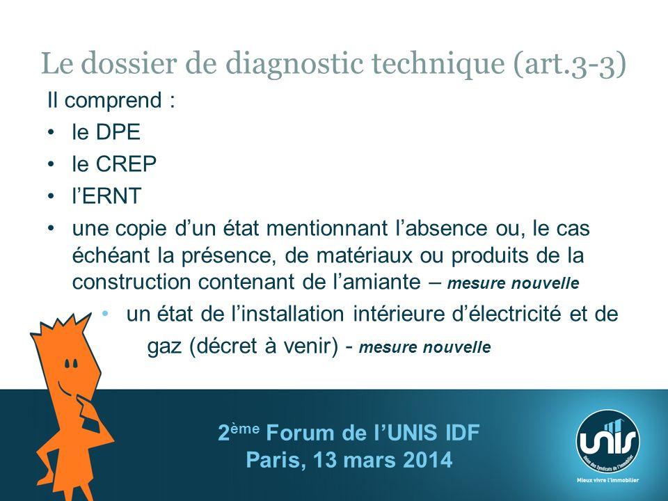 Le dossier de diagnostic technique (art.3-3)