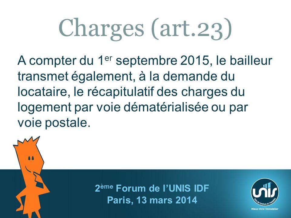 2ème Forum de l'UNIS IDF Paris, 13 mars 2014