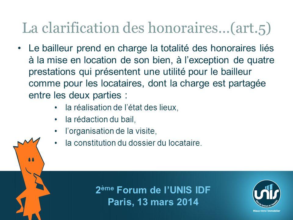 La clarification des honoraires…(art.5)