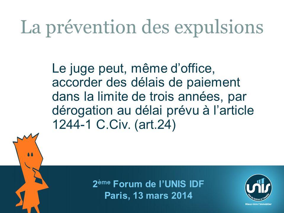 La prévention des expulsions