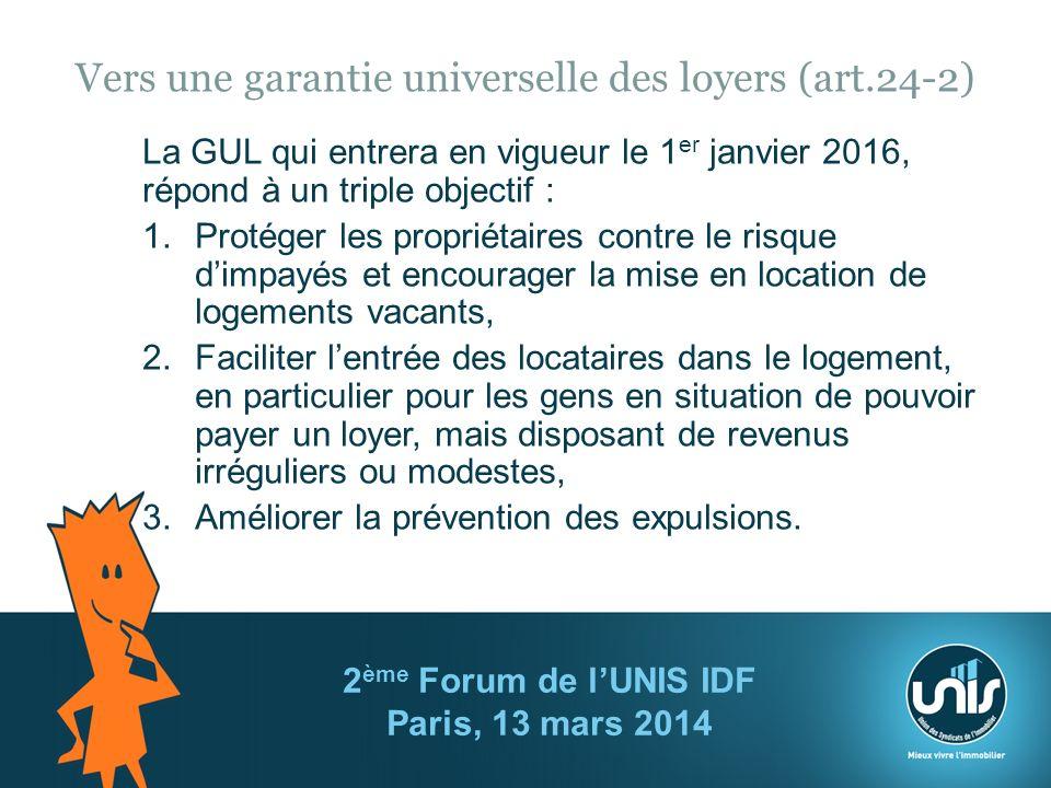 Vers une garantie universelle des loyers (art.24-2)