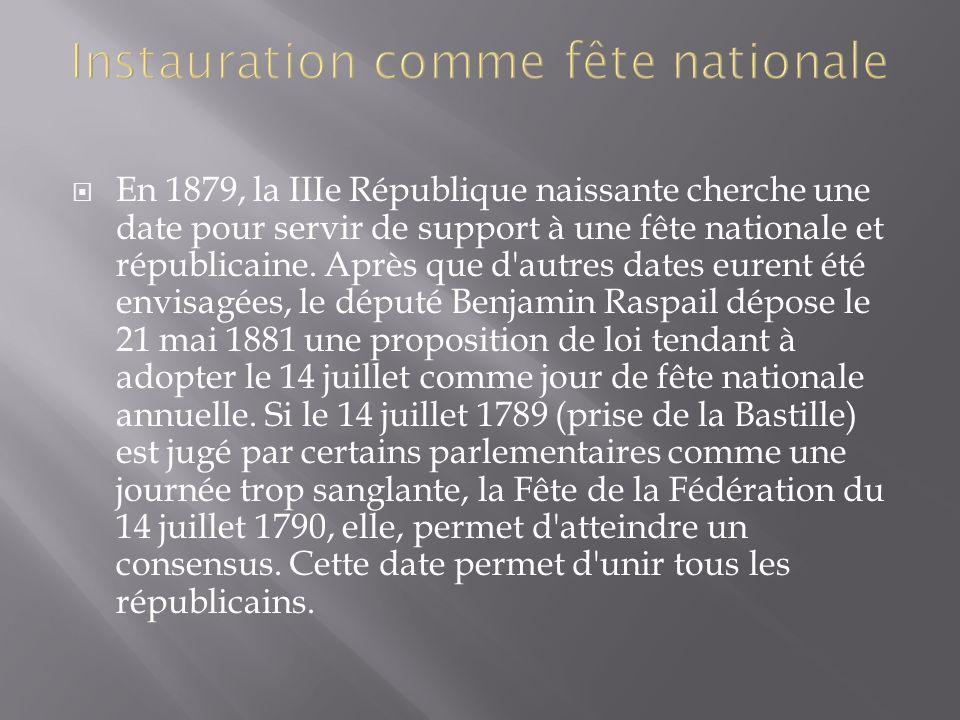 Instauration comme fête nationale