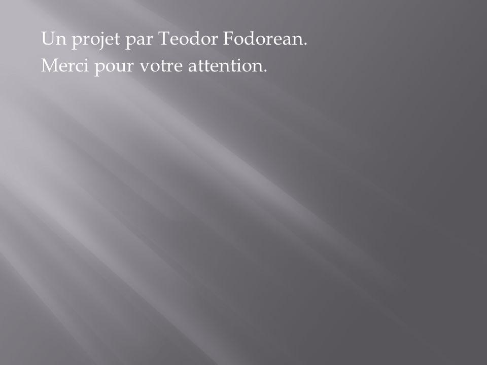 Un projet par Teodor Fodorean. Merci pour votre attention.