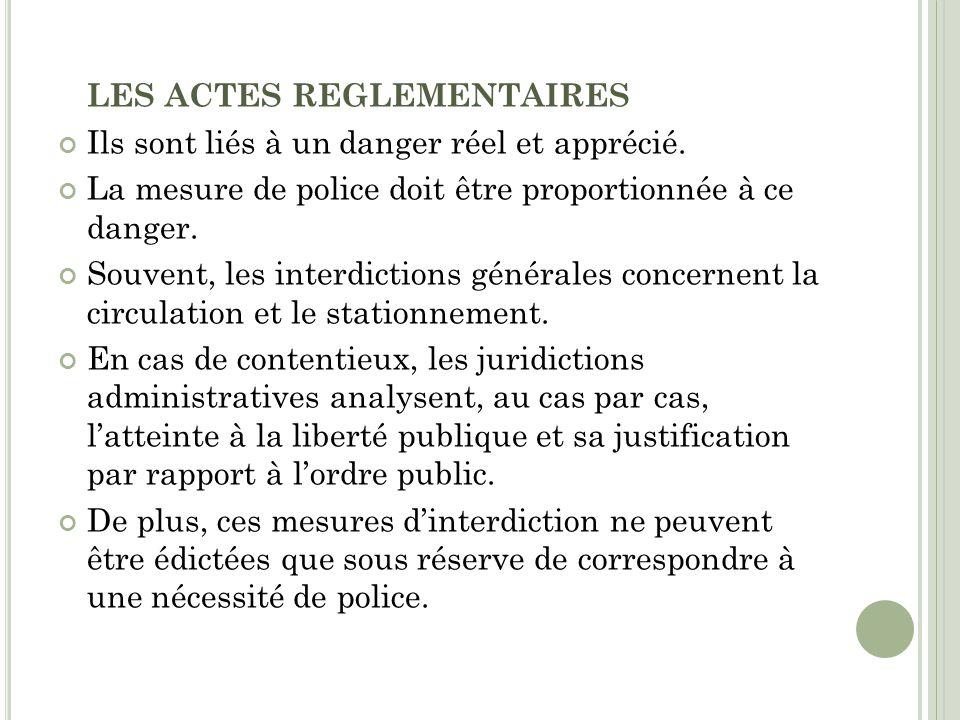 LES ACTES REGLEMENTAIRES