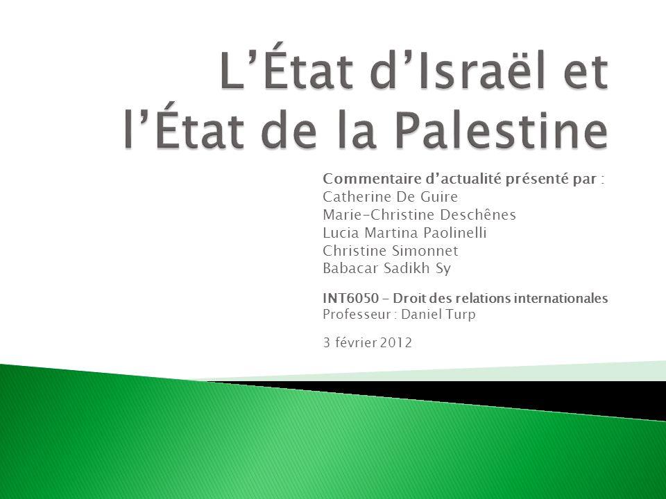 L'État d'Israël et l'État de la Palestine