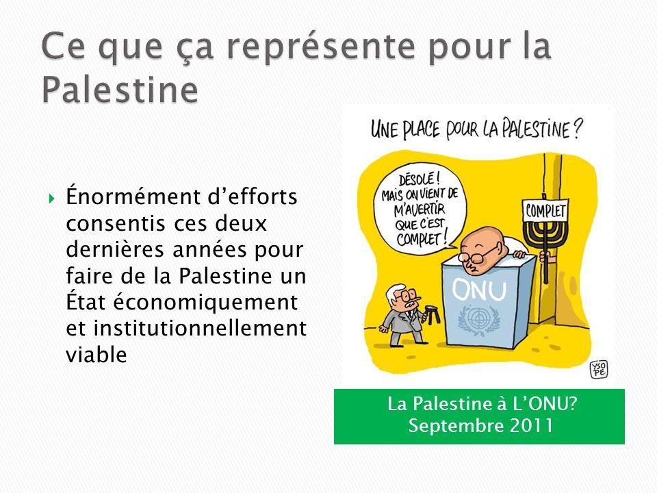 Ce que ça représente pour la Palestine