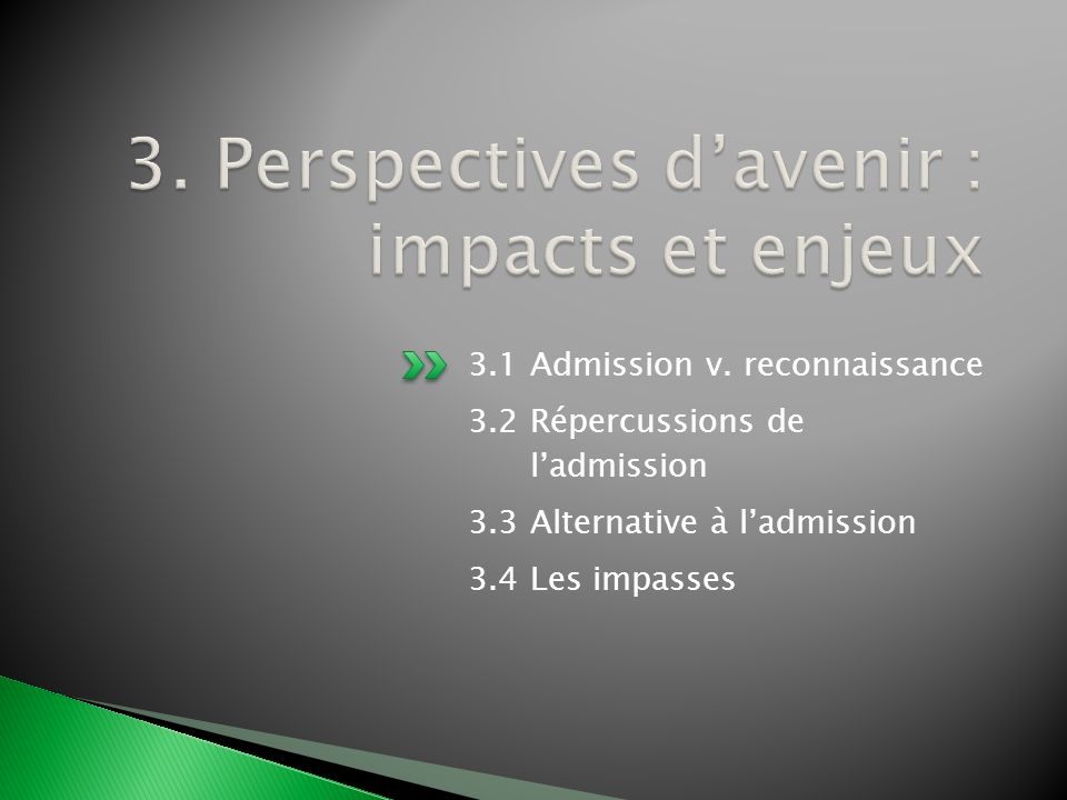 3. Perspectives d'avenir : impacts et enjeux