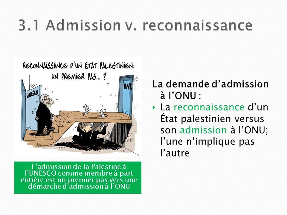3.1 Admission v. reconnaissance