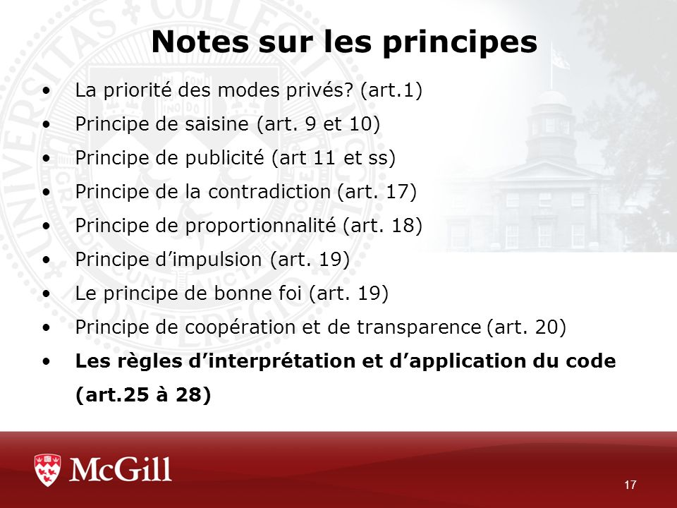 Notes sur les principes