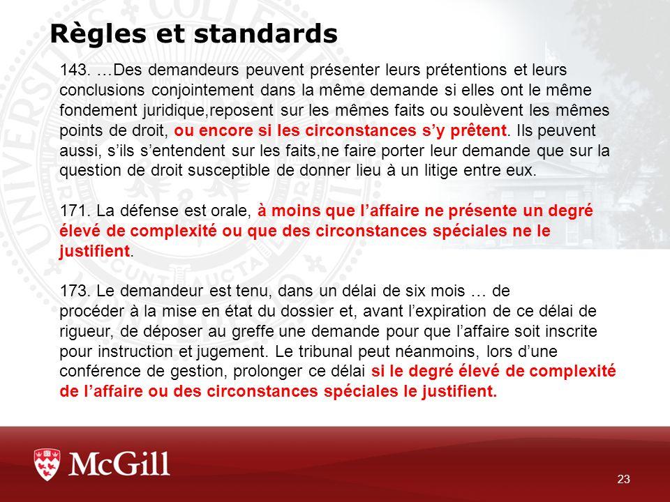 Règles et standards