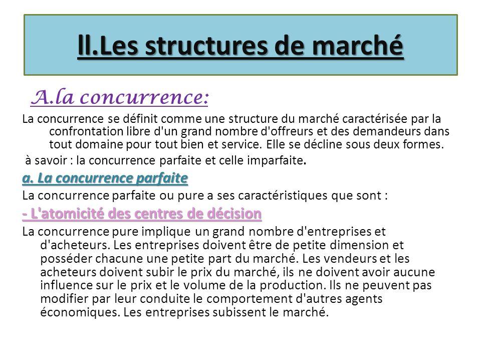 ll.Les structures de marché