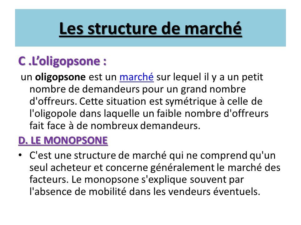 Les structure de marché