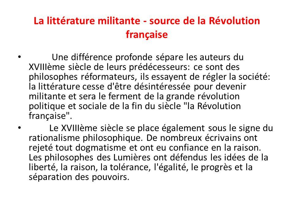 La littérature militante - source de la Révolution française