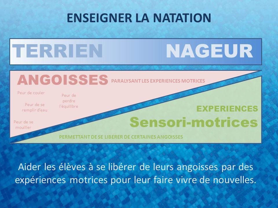TERRIEN NAGEUR ENSEIGNER LA NATATION ANGOISSES Sensori-motrices