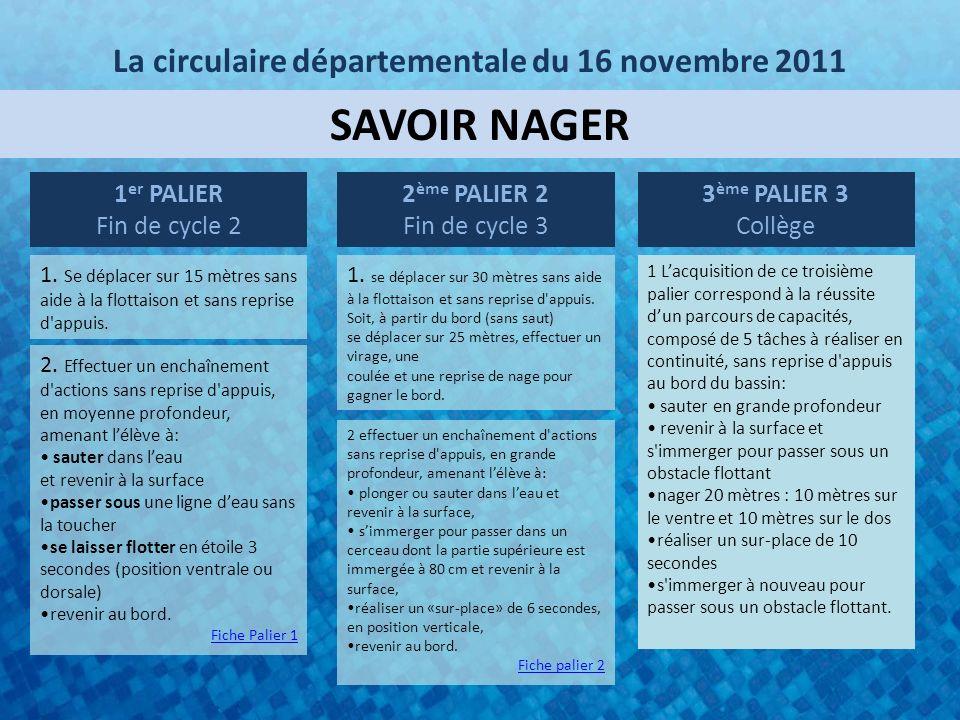 La circulaire départementale du 16 novembre 2011