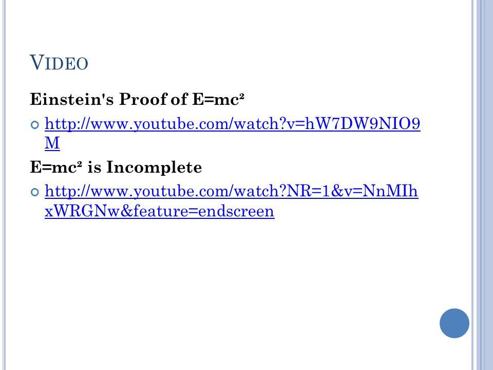 Video Einstein s Proof of E=mc²