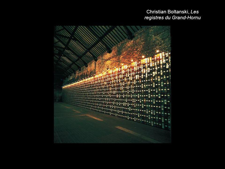 Christian Boltanski, Les registres du Grand-Hornu
