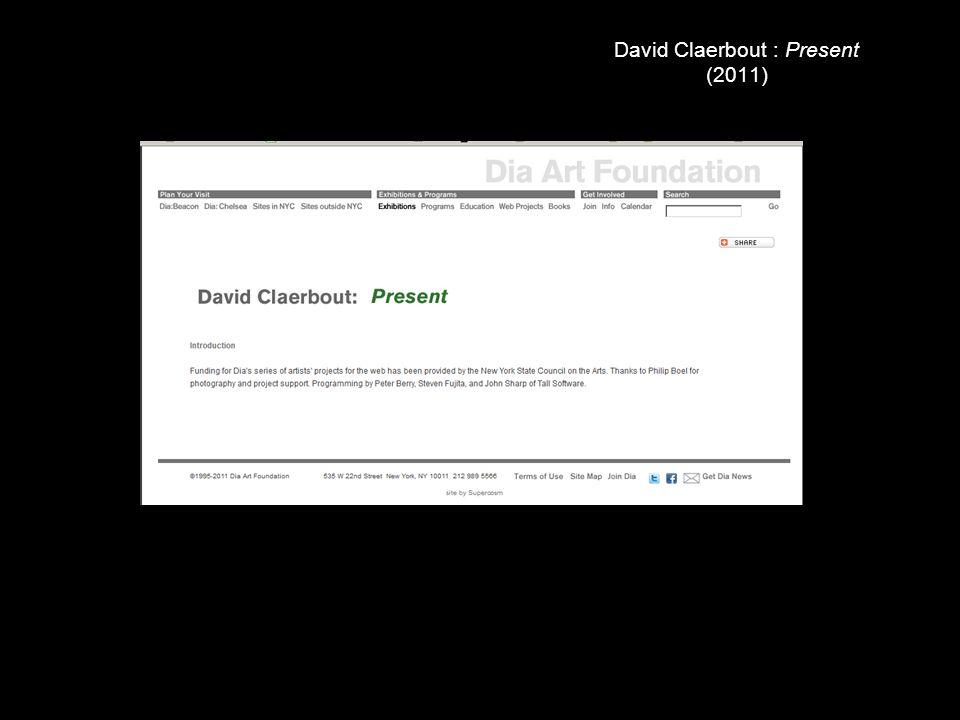 David Claerbout : Present (2011)